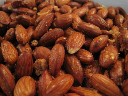 Garlic Almonds Close Up