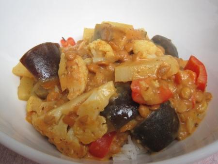 Lentil & Cauliflower Madras Curry