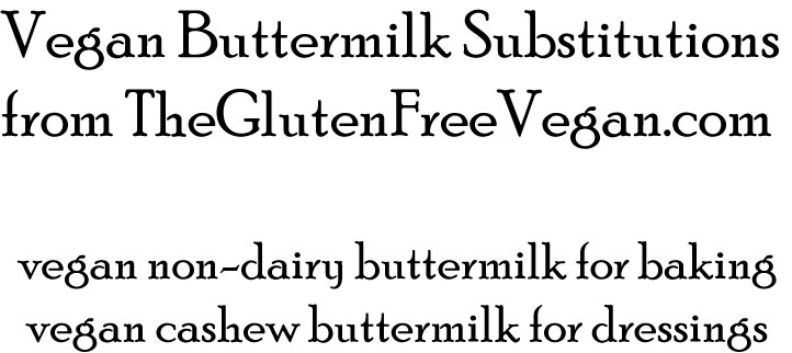 Vegan Buttermilk Substitutions