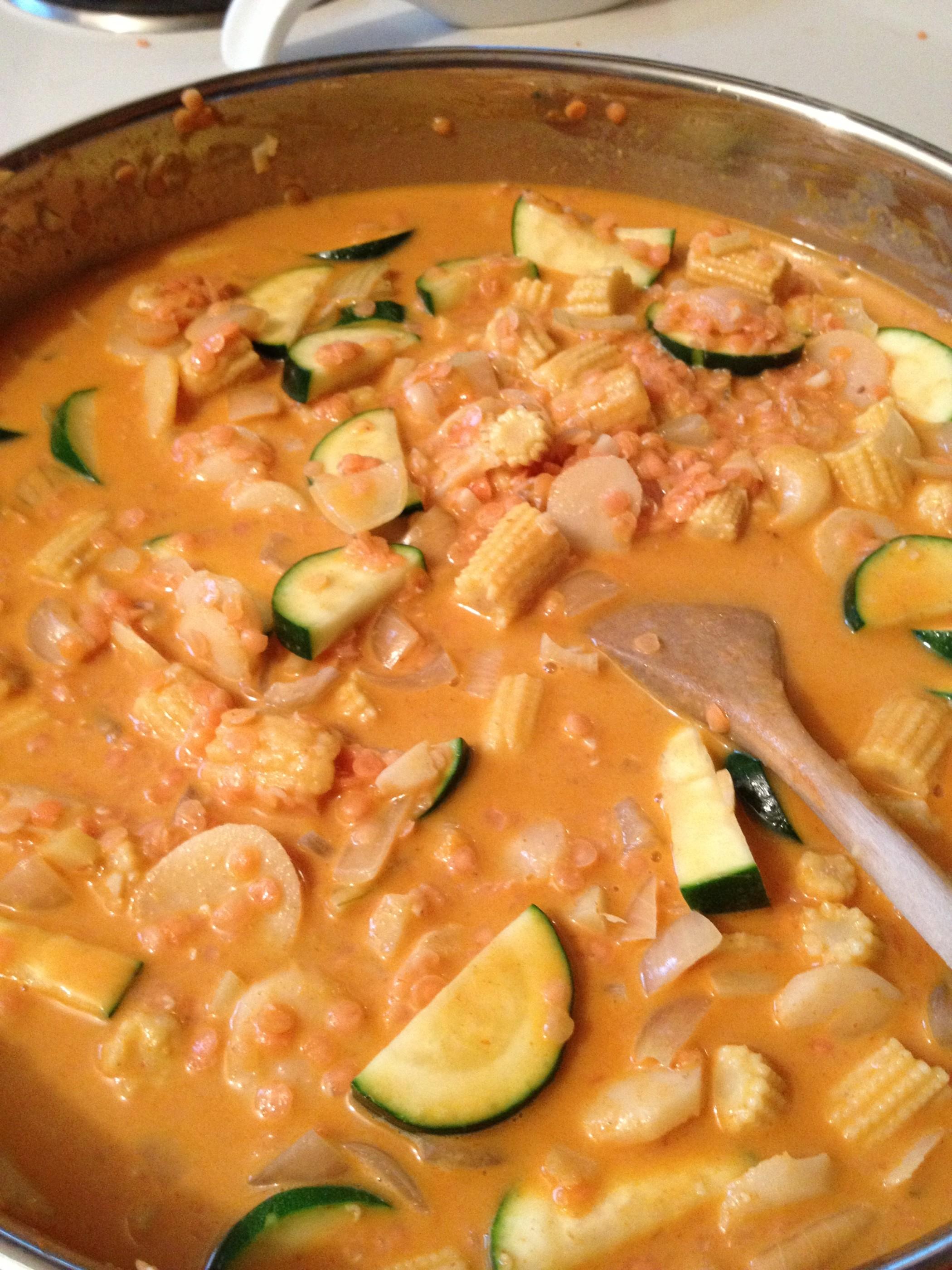 Thai Red Curry Lentils