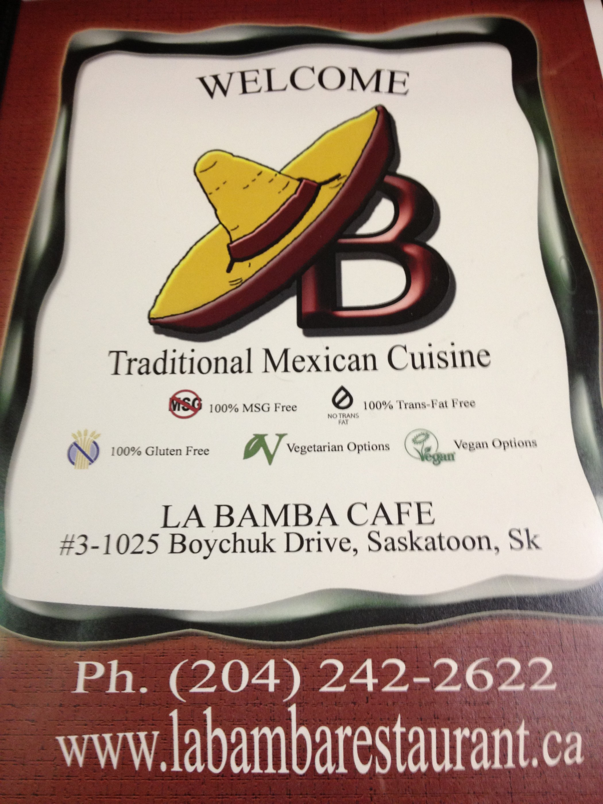 Fabulous Food Finds in Saskatoon: La Bamba Cafe