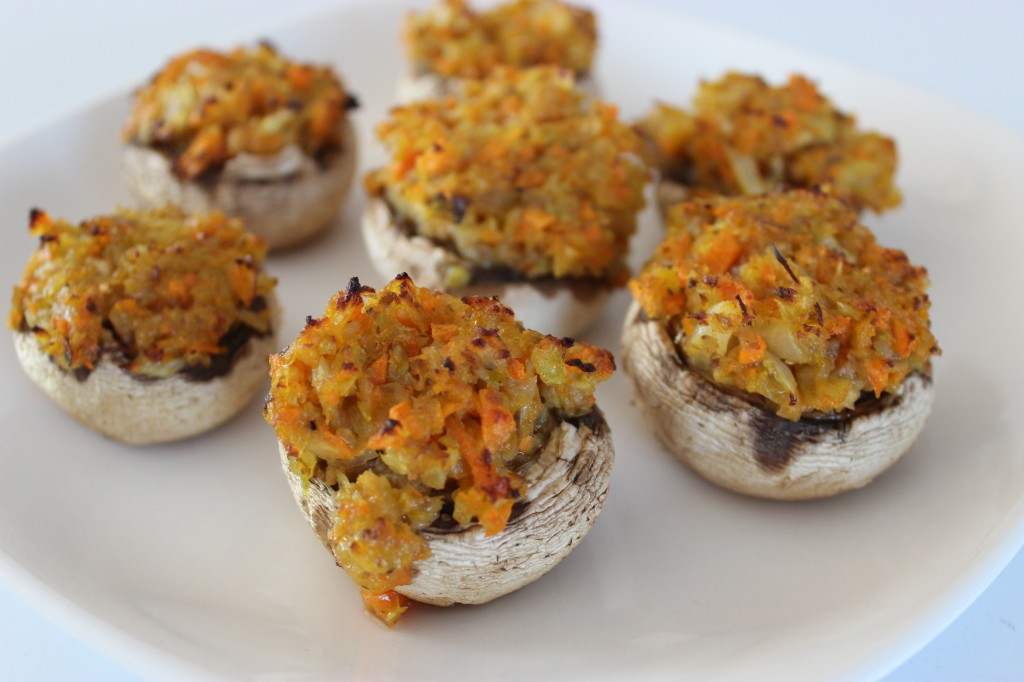 Veggie Stuffed Mushroom Caps | The Gluten Free Vegan