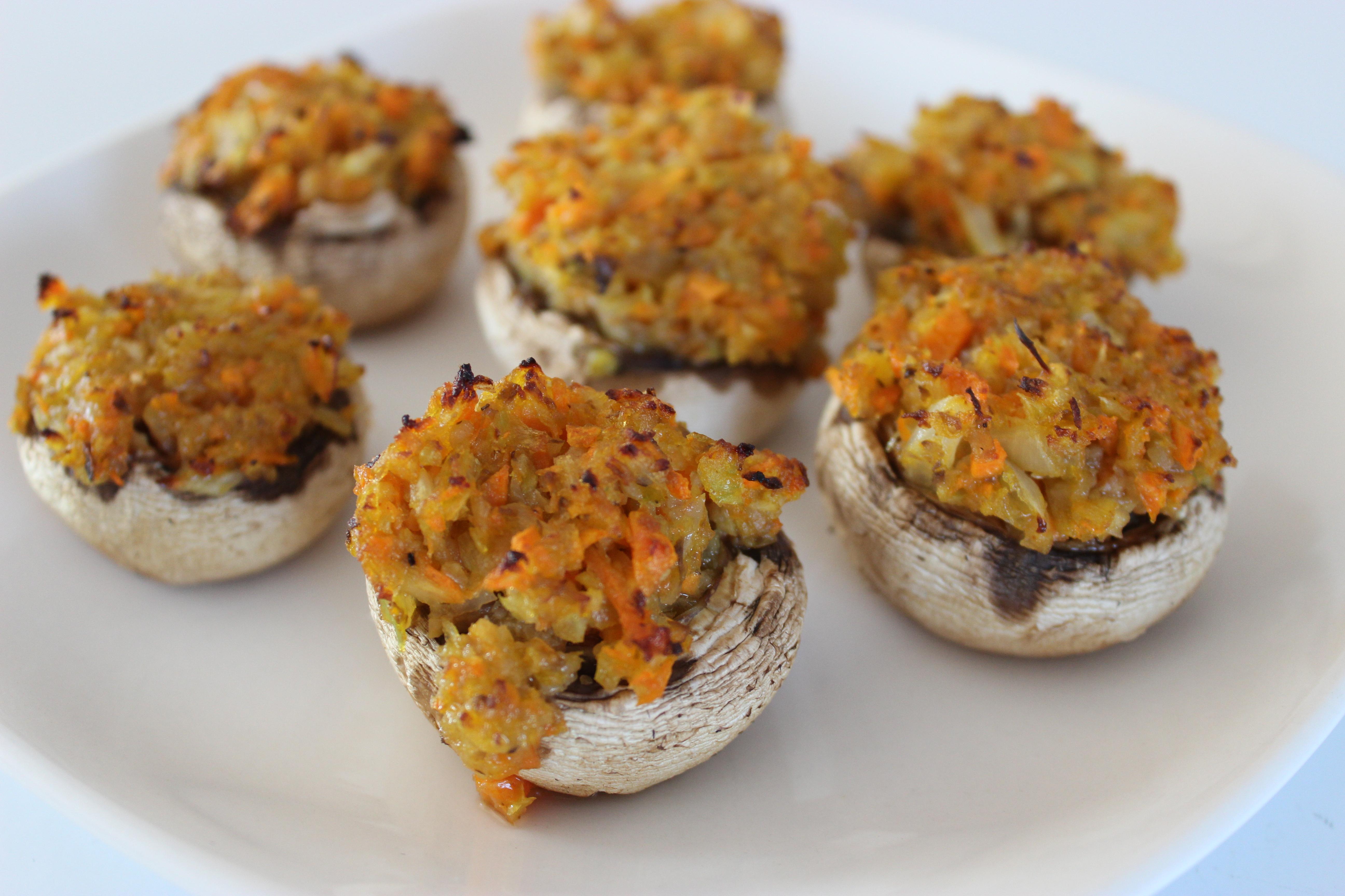 Veggie Stuffed Mushroom Caps