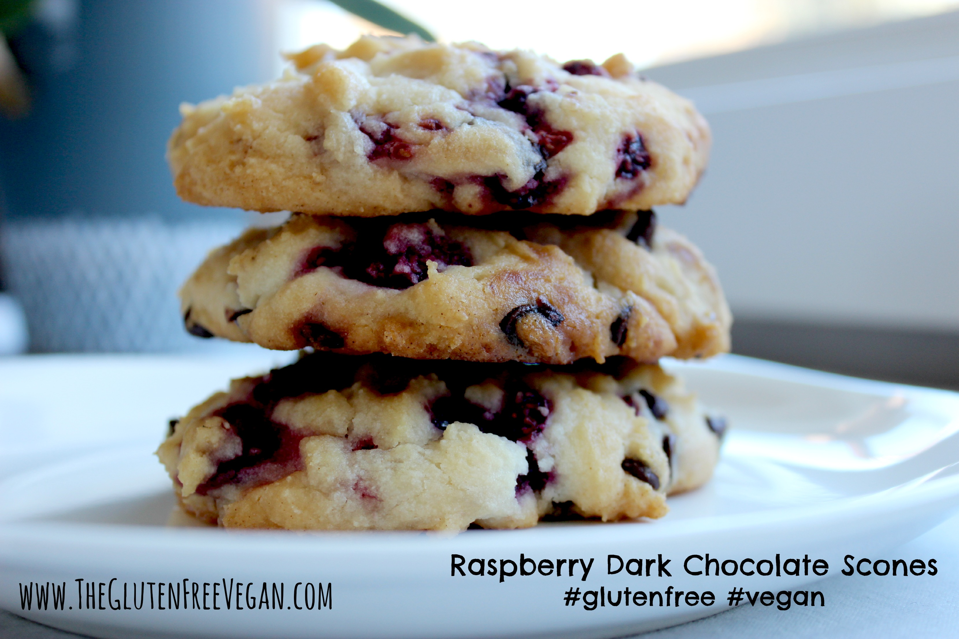 Raspberry Dark Chocolate Scones