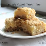 Pineapple Coconut Dessert Bars {gluten free, vegan}