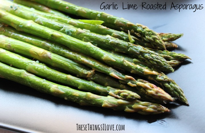 Garlic Lime Roasted Asparagus