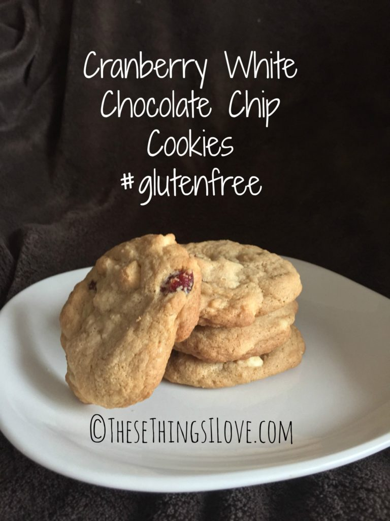 Cranberry White Chocolate Chip Cookies | These Things I Love