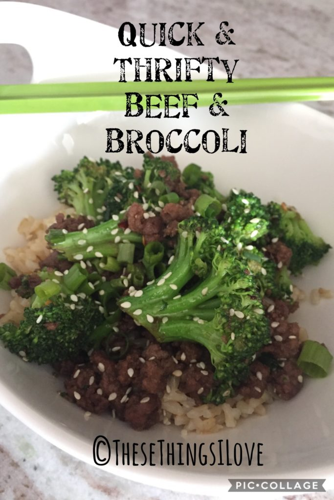 Beef & Broccoli | These Things I Love