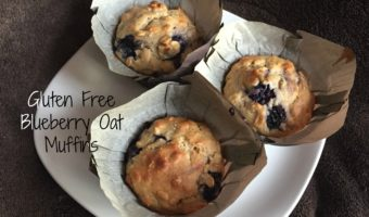 Gluten Free Blueberry Oat Muffins (with dairy free option)