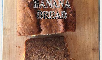 Banana Bread {gluten free, dairy free, vegan option}